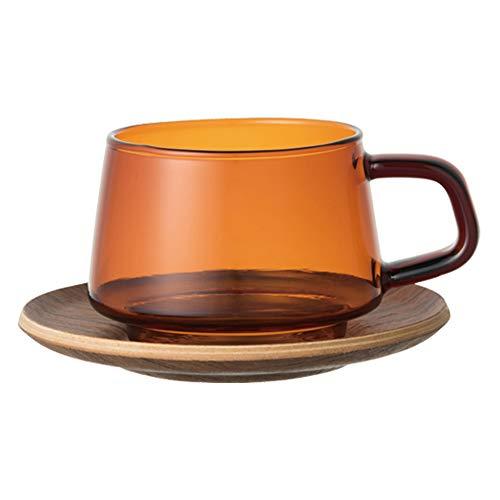 KINTO (キントー) コーヒー・ SEPIA カップ&ソーサー 270ml アンバー 21742