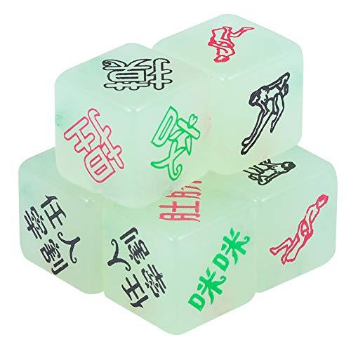 Artibetter 6Pcs Leuchtende Sex Würfel Spiel Liebhaber Bett Spiel Sex Positionen Spielzeug im Dunkeln Leuchten Spiel Würfel Hochzeitspaar Spielen Spielzeug (Gemischte Farbe)