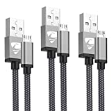 Aioneus Micro USB Kabel [3Pack:1M+2M+3M] Micro USB Ladekabel Nylon Handy Schnellladekabel Android Ladekabel für Samsung S7/S6/S5/J7/J5/Note 5, Huawei Y7/Y6/Y5, LG, Kindle, Xiaomi, HTC, Sony, ps4