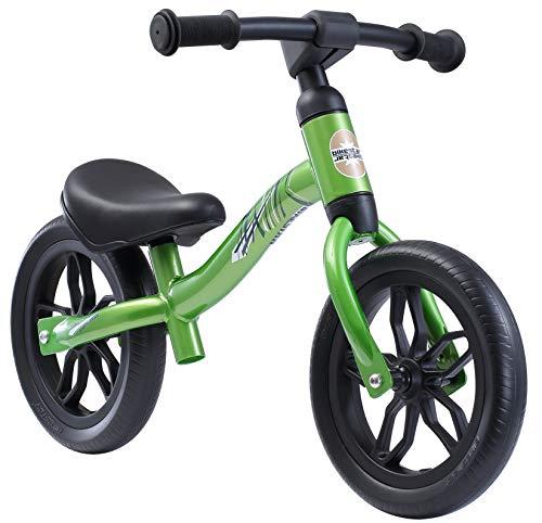 BIKESTAR Federleichtes (3 KG!) Kinderlaufrad Lauflernrad Kinderrad für Jungen und Mädchen ab 2 - 3 Jahre   Mitwachsendes 10 Zoll Kinder Laufrad Lightrunner   Grün   Risikofrei Testen