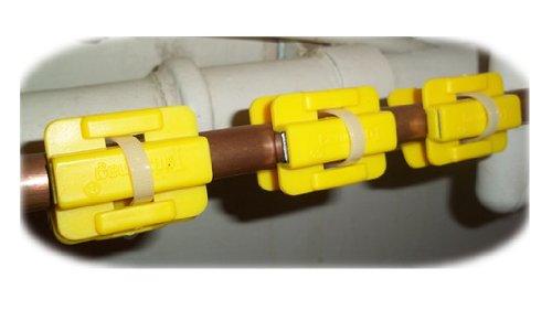 3pares de filtros acondicionadores de agua magnéticos descalcificadores para cocina, jardín o baño, color amarillo
