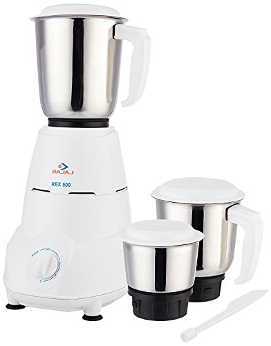 Bajaj Rex 500-Watt Mixer Grinder with 3 Jars...