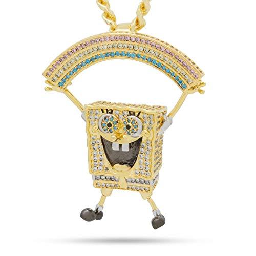 King Ice (キングアイス) ×SpongeBob SquarePants (スポンジ・ボブ) ネックレス ゴールド The Imagination Necklace (O/S (ワンサイズ)) [並行輸入品]