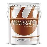 Membrapol Metacril 64 confezione da 10 Lt resina per pavimenti stampati e pareti colore tr...