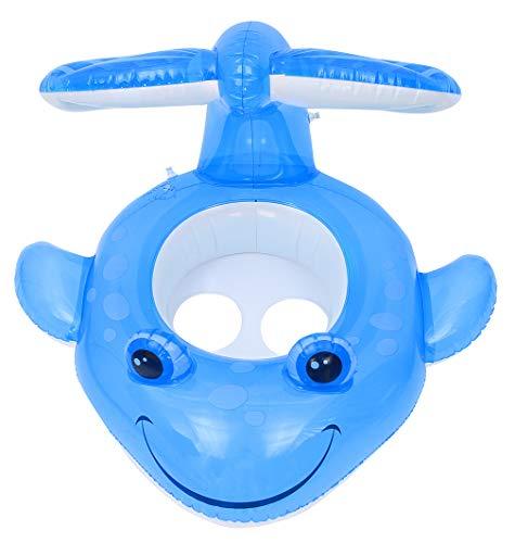 GEMVIE EOZY Anillo De Natación Flotador para Piscina para bebés, Flotador para Bebé con Asiento Forma de Fish , Bebé de Piscina Inflable Anillo de Natación para Niños Niñas Edad 1-4 Años (Azul)