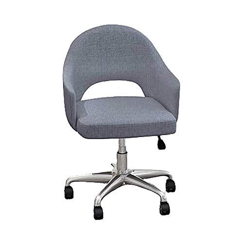Bdesign Computerstuhl Home Komfortable sitentarische Hubstuhl Rückenlehnenbüro Modern Einfache Aufgabenstuhl 360 ° Rotation (Color : Grey)