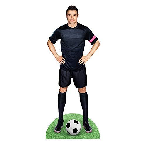 Generico Sagoma in Cartone Cristiano Ronaldo CR7 Altezza Naturale 1,88 m | con Piede Autoportante | Ideale per Compleanni Feste Ed Eventi | Realizzato in Cartone Resistente | Made in Italy