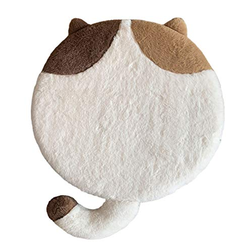 QSCV Kids Playroom Floor Pillow,Round Comfortable Floor Cushion with Cat Pattern,for Living Room Nursery Kitchen Chair Pad-A 16'(4040cm)