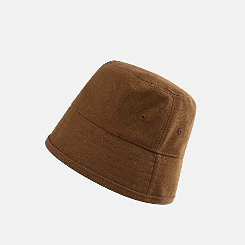 Jusfw Hat Mannen Young Fashion Studenten Fisherman Hat lampenkap Cap Sunscreen Shade Leisure Basin Hat Katoen en linnen (Color : Brown)