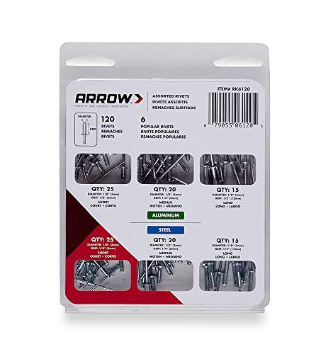 Arrow Fastener RK6120 Rivet Assortment Kit, 120-Pack