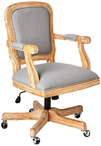 Linon Home Décor Harris Office Light Gray Chair, Grey