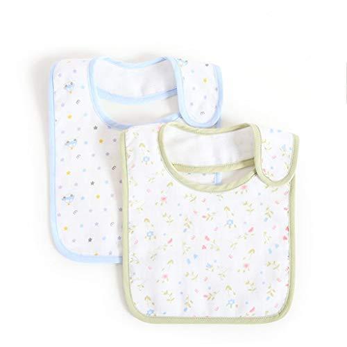 Betrothales Living House Baberos De Gasa Chic De Casual Algodón para Bebé Otoño E Invierno Cuatro Capas para Recién Nacidos Juego De 2 Piezas (Tamaño 3) (Color : Colour, Size : 3 Set)