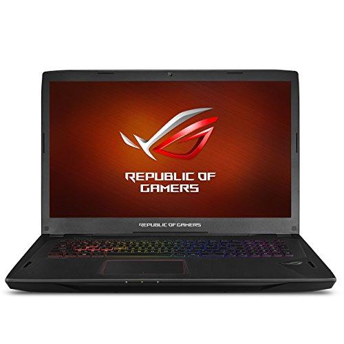 "ASUS ROG Strix Gaming Laptop, 17"" Full HD 120Hz Panel, Intel Core i7 2.8GHz GTX 1080 8GB, 16GB DDR4 256GB PCIe SSD 1TB HDD, Black Aluminum Hairline (GL702VI-WB74)"