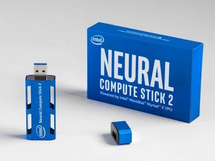 Intel Neural Compute Stick 2 - Stick - Movidius Myriad X 700 MHz - RAM 4 GB - kein HDD - kein Betrie
