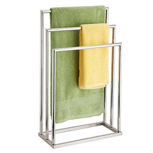 Freestanding Towel Rack, 3 Tier Stainless Steel Towel Bar Stand for Bathroom, Chrome Plated DECLUTTR