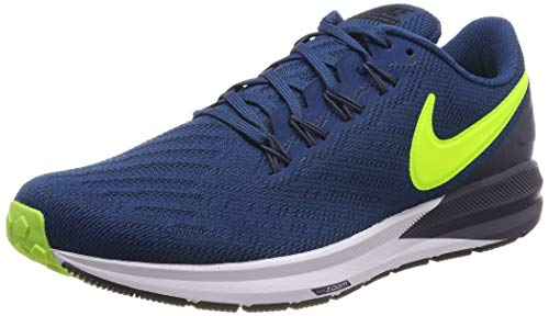 Nike Herren Air Zoom Structure 22 Laufschuhe, Mehrfarbig (Blue Force/Volt/Thunder Blue/Black 402), 44.5 EU