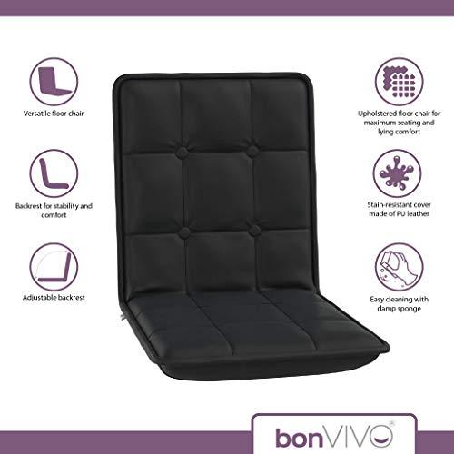 bonVIVO Easy Comfort Floor Chair, Elegant Multi-Angle Black Floor ...