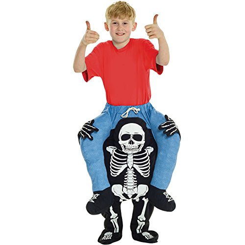 Kinder Skelett Huckepack Kostüm Lustiges Täuschungskostüm Trag Mich Verkleidung