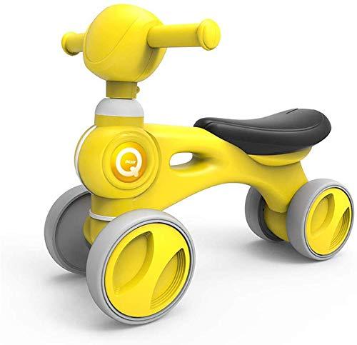 FEE-ZC Kid Veiligheid Baby Balance Bike Kinderen Walker Fiets Veilig Rijden Speelgoed voor 1-3 Jaar Oud Baby Geen Pedaal 4 wieler Peuter Eerste Fietsen met Muziek
