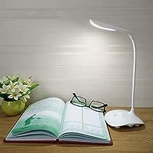 Wazdorf Table lamp Shadeless Fashion Flexible Neck LED Reading Eye Protection Study Desk Lamp Brightness Switch Dimmer LED Table Lamp