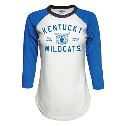 JA/TOTW University of Kentucky Wildcats Ladies Baseball Style T-Shirt (Large)
