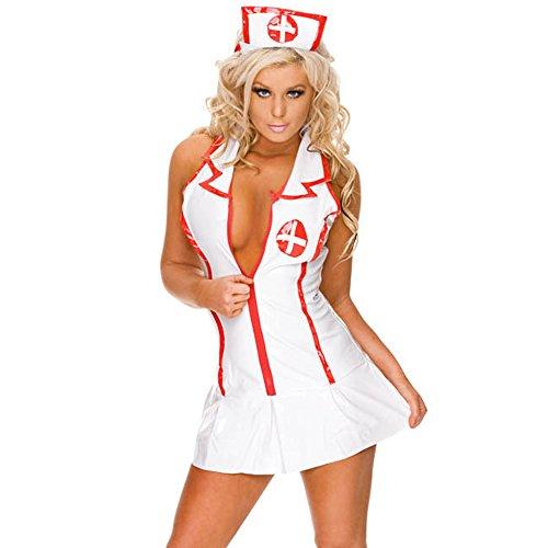 YKSH Woman's Sexy Nurse Outfit Lingerie, Ladies Nurse Uniform, Dress, Size Small