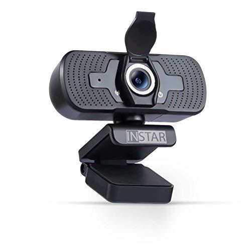 Hochwertige USB Webcam IN-W2 von INSTAR mit Objektivabdeckung, Full-HD Web cam, Webcam mit Mikrofon, eingebautes Mikro, PC-Kamera, Plug&Play, Windows/MacOS/Linux, ideal für Zoom, Skype, FaceTime