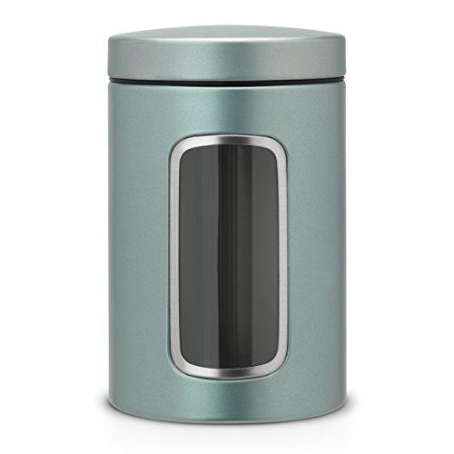 Brabantia 484360 Boîte à Fenêtre Rond Acier Metallic Mint 10,9 x 10,9 x 17,4 cm