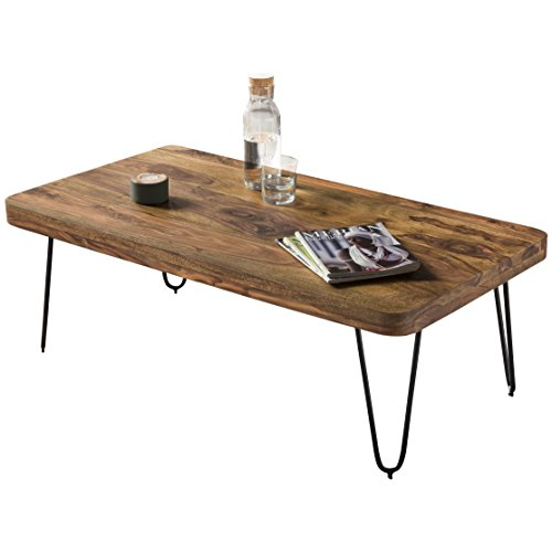 Wohnling wl1.511 en Bois Massif Sheesham Table Basse 115 x 60 x 40 cm