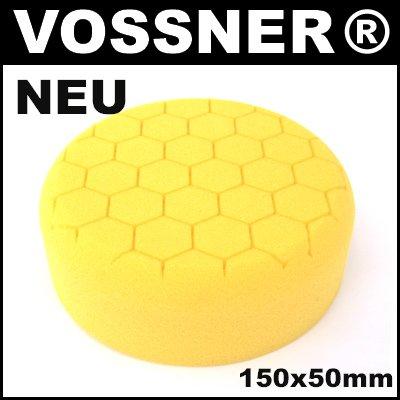 Profi Polierschwamm Hexagon 150mm gelb hart für Poliermaschine