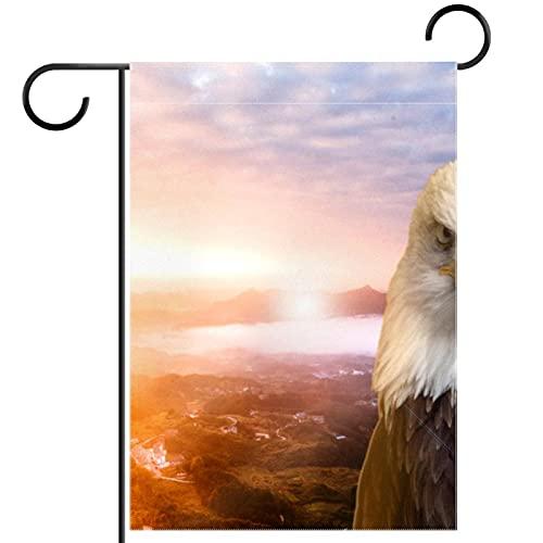 Bandera del jardín,decoración al aire libre de la granja de la bandera de la yarda halcón Vertical 28x40 pulgadas