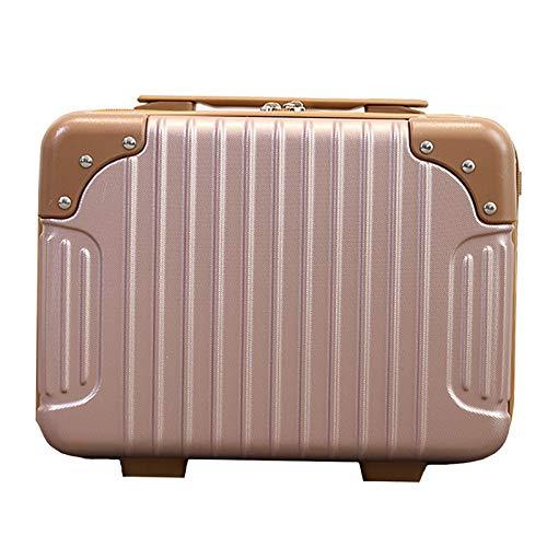HWLL Estuches de Maquillaje Estuche de Maquillaje de Viaje Vintage, Artista Organizador Bolsa de Almacenamiento Portátil Bolsa de Regalo Multifunción para Niñas Mujeres (Color : Pink)