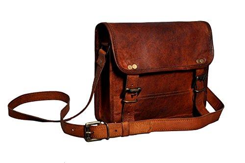 IndianHandoArt 10' Inch Leather Messenger Bag vintange satchel bag Crossbody Bags for Men and Women unisex office bag