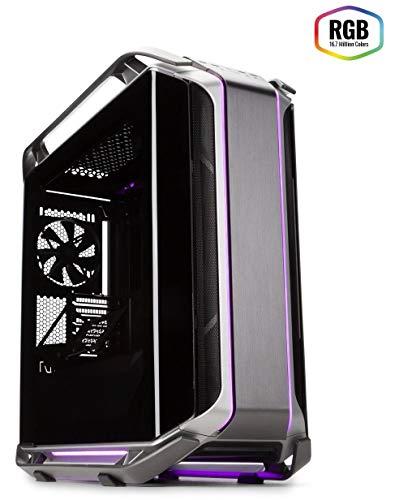 Cooler Master COSMOS C700M - Case ARGB in Alluminio con Doppio Panello Laterale in Vetro Temperato Curvato, Struttura Ultra Modulare con Eccezionale Spazio Hardware - Full Tower