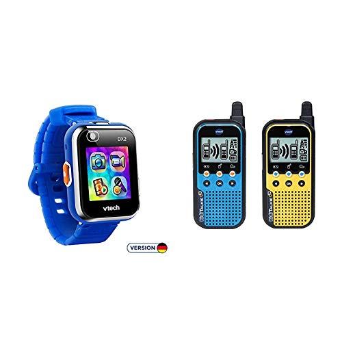 VTech Kidizoom Smart Watch DX2 blau Smartwatch für Kinder Kindersmartwatch & 80-518564 KidiTalkie, Walkietalkie, Mehrfarbig