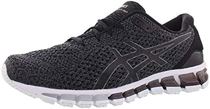 ASICS Men's Gel-Quantum 360 Knit Running Shoes, 7.5, Black/Carbon/Pale Gold