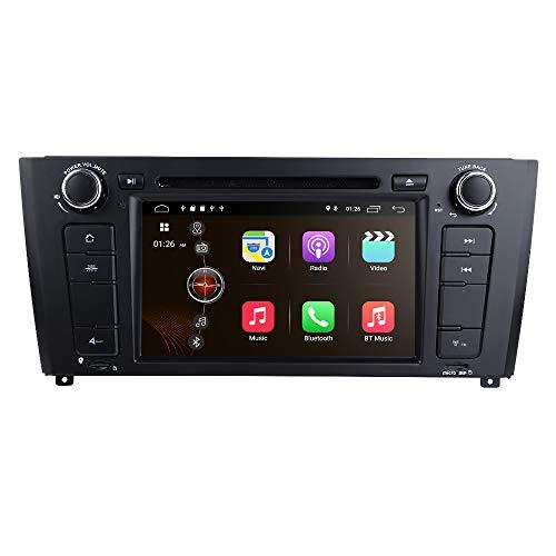 hizpo Android 10 Autoradio DVD-Player Spezial für BMW 1er E81 Schrägheck E82 Coupé E87 Cabrio E88 Cabrio Unterstützt Bluetooth GPS Navigation 7 Zoll Touchscreen Lenkradsteuerung WiFi 4G USB SD CAM-In