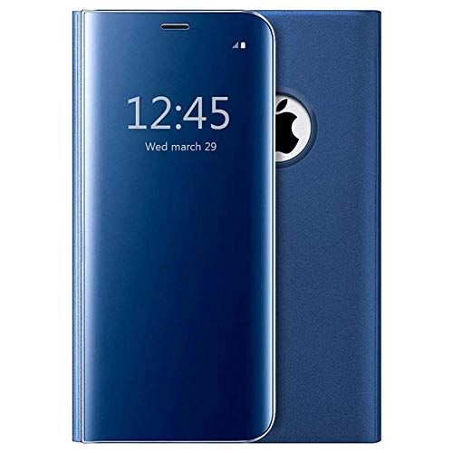 MTP- Products Funda con Tapa Luxury Mirror View para iPhone 7 / iPhone 8 - Azul