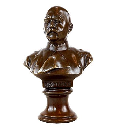 Kunst & Ambiente - Otto von Bismarck Büste - signiert - Militaria - Bronzebüste - Bismarck Statue