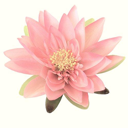 Kunstblumen Seidenblume Seerose/Lotusblüte/Teichrose in ROSA