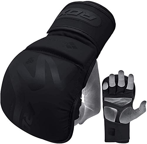 RDX MMA Gloves for Martial Arts Training and Sparring, Open Palm Maya...