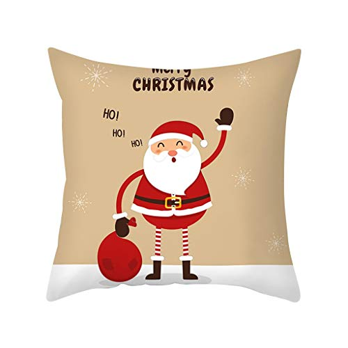 Mingbai-Christmas Decorations-Gold Merry Christmas Pillow Cases, Nordic Sofa Cushion Cover, New Year Christmas Decorations Clearance, Personalized Creative Gifts, Home New Year Decor (E)