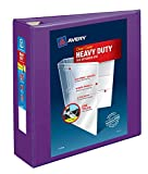 Avery Heavy Duty View 3 Ring Binder, 3' One Touch EZD Ring, Holds 8.5' x 11' Paper, 1 Purple Binder (79810)