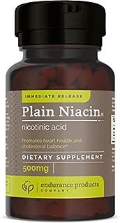 Plain Niacin - 500mg Immediate Release Niacin with Flush (Vitamin B-3) - Nicotinic Acid 100 Tablets - Non-G...