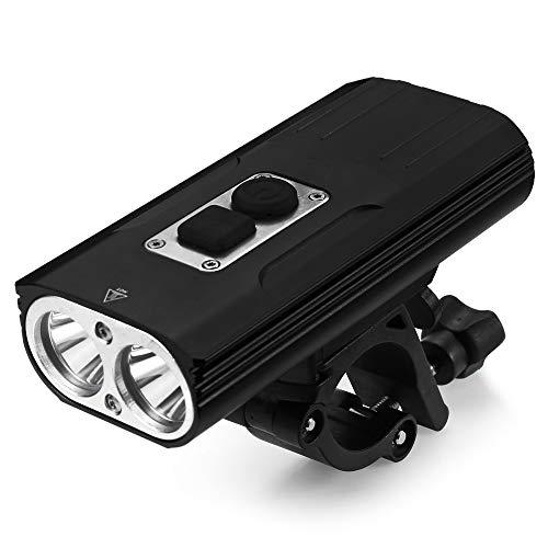 HENGTA LED Fahrradlicht Fahrrad-Frontlichter mit Fahrradbeleuchtung IPX68 Wasserdicht Fahrradlampe mit 6 Beleuchtungsmodi