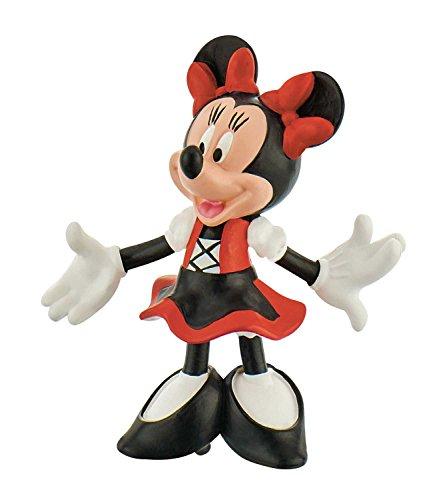 Bullyland 15391 - Spielfigur, Walt Disney Minnie im Dirndl, ca. 7 cm groß, liebevoll handbemalte Figur, PVC-frei, tolles Geschenk für Jungen und Mädchen zum fantasievollen Spielen