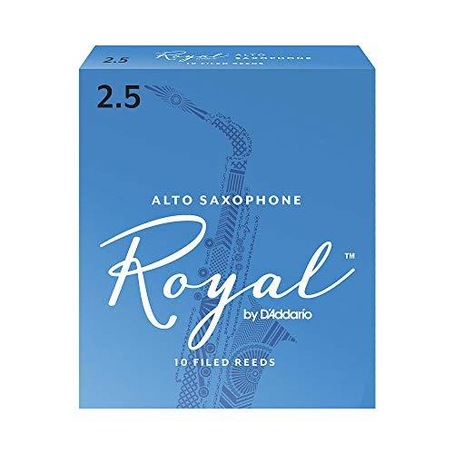 Confezione da 10 ance Rico Royal per sassofono contralto, durezza 2,5