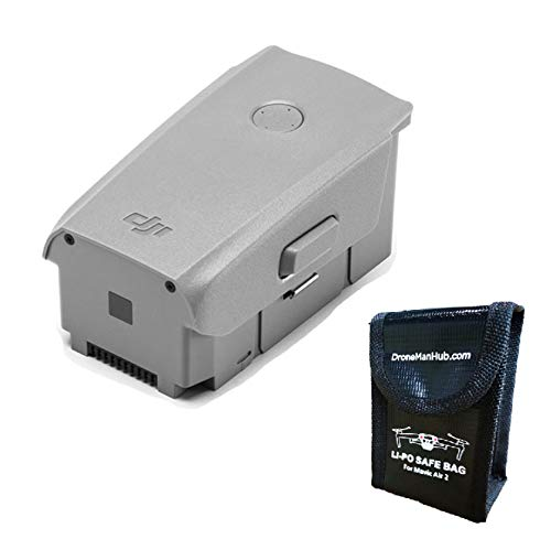 Mavic Air 2 Intelligent Flight OEM Battery with Dronemanhub Safety Bag for Battery Storage, One Pack (for Mavic Air 2 Drone ONLY)