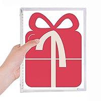 クリスマス・ギフト・レッド・フェスティバル 硬質プラスチックルーズリーフノートノート