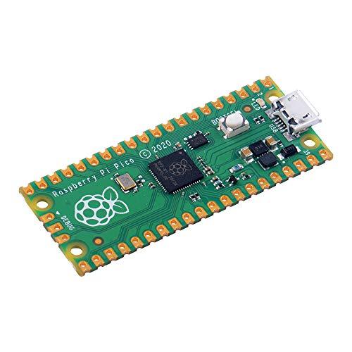 GeeekPi Raspberry Pi Pico Mini placa de desarrollo flexible para microcontrolador, basado en Raspberry Pi RP2040, procesador de doble núcleo ARM Cortex M0+, funciona 133 MHz, compatible C/C++/Python